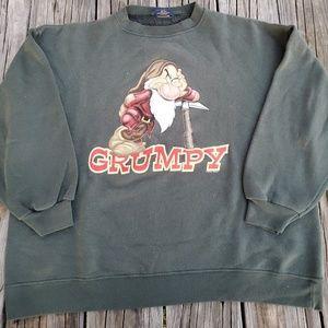 Disney Classic Grumpy Green Sweater L-XL